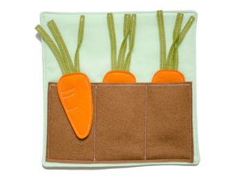 Carrot Garden Quiet Page -- DIY Sewing Kit