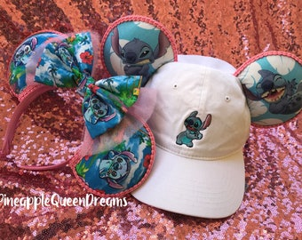 Stitch hat with ears!