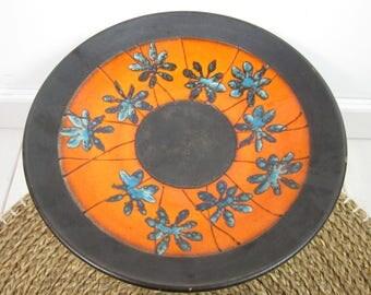Orange retro scale ceramics from 70 's