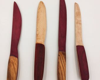 Exotic Hardwood Cheese Spreaders / Letter Openers