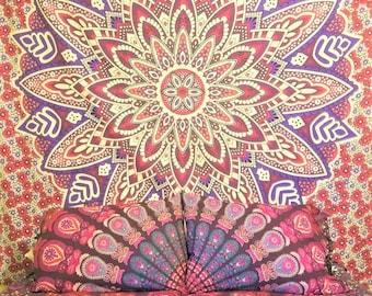 Mandala tapestry, Mandala bedding, Boho Decor, Mandala Tapestry bedding, Mandala pillowcases, Hippie tapestry, wall hanging, wall tapestry