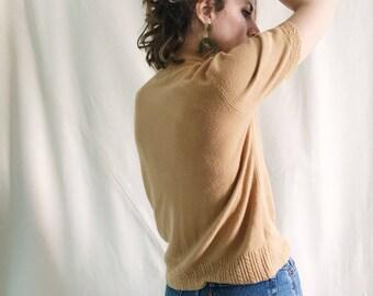 Vintage Sweater Tee // S