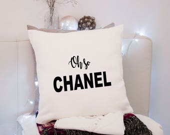 Chanel ~ Oh So Chanel ~ Cushion Pillow including infill Natural or Black
