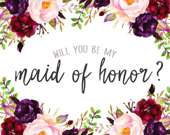 Will you be my Maid of Honor \\MOH Proposal\\Digital File