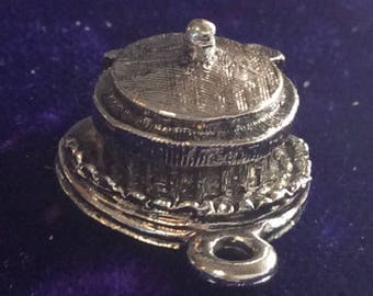 Sterling silver spring articulated Castel st Angelo charm vintage #  187s