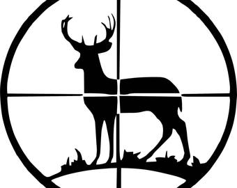 Deer Scope decal **SIZE and COLOR CHOICE** Free Shipping