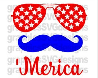 Merica-Fourth of July-SVG cut files