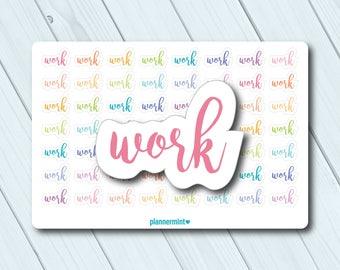Work Planner Stickers - Word Outline - Erin Condren Life Planner - Happy Planner - Business - Career - Job - Entrepreneur - Matte or Glossy