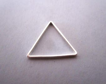 Empty silver triangle charm