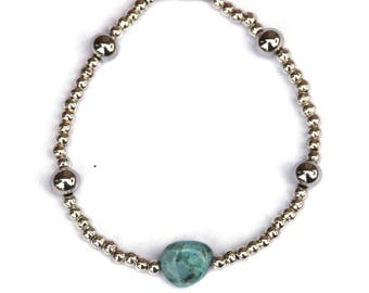 Aquamarine bracelet, silver bracelet, Aquamarine jewelry, gemstone bracelet, gemstone jewelry, March birthstone, birthday gift, gift women