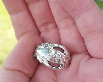 Vintage Sterling Silver Oneida Spoon Ring