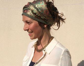Lined linen satin Turban headband