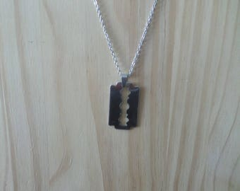 Razor blade necklace