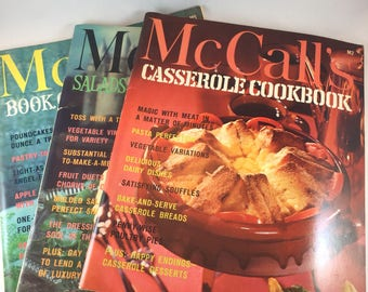 McCall's Cookbook Set - McCall's Casserole - McCall's Salads - McCall's Cakes and Pies - Vintage Cookbooks - 1960s Recipes - Vintage Recipes