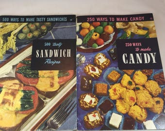 Encyclopedia of Cooking - 250 Ways to Make Candy - 500 Tasty Sandwich Recipes - 1950s Recipes - Vintage Cookbooks - Culinary Arts Institute
