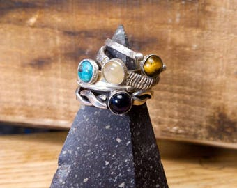 Silver ring// hand made// stone ring// amethyst // turquise// Roman ring// woman accessories// ancient ring//free shipping