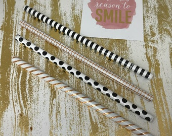 Luxury Pencil, 2B Pencil, Foil Pencil, Wooden Pencil, Striped Pencil, Spotted Pencil, Stationery, Drawing