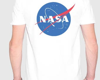 nasa white fashion oversize t-shirt