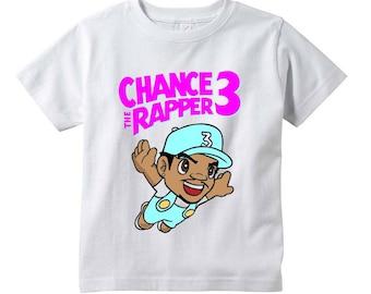 Custom Printed Chance The Rapper Graphic White TShirt