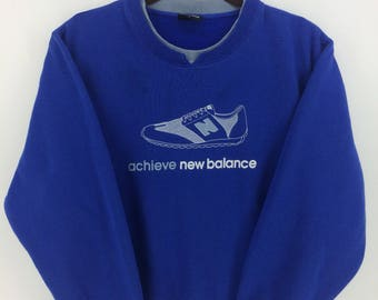 Vintage 90's New Balance Sport Classic Design Skate Sweat Shirt Sweater Varsity Jacket Size L #A858