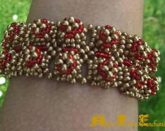 Bracelet 3 D seed beads