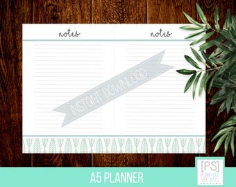A5 Planner Printable Notes Page - Printable Planner - Instant Download Notes  - Planner Printables