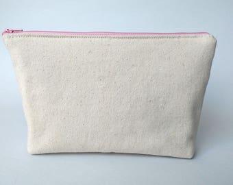 Canvas zipper pouch | Etsy