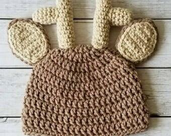 Crochet Deer Hat, Deer Hat, Baby Deer Hat, Reindeer Hat
