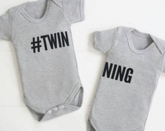 Twin vests bodysuits. Any colour any size TWINNING