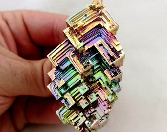 Rainbow Bismuth Crystal 78g Lab Grown Jewelry Display Specimen Educational Metaphysical Metal Healing Stone