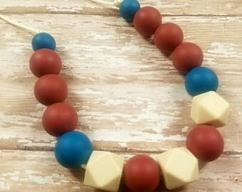 Teething necklace, adult sensory necklace,adult silicone necklace,teething chewelry, nursing necklace, necklace teether,fidget necklace