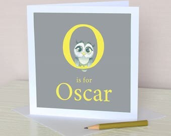Personalised Alphabet in Acrylic Greeting Card