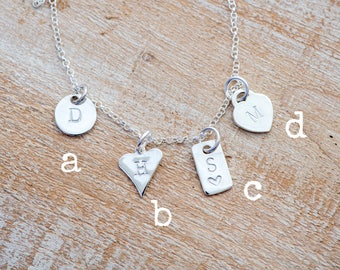 Personalised charm, Hand stamped tag