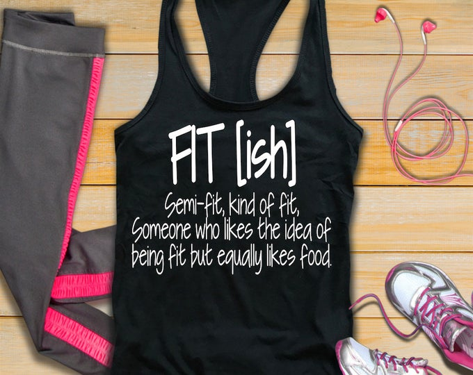 Fitish Womans Fitness Tank Top-Fit ish Tank Top-Workout Tank-Bella Canvas Flowy Tank Top-Loose Fit