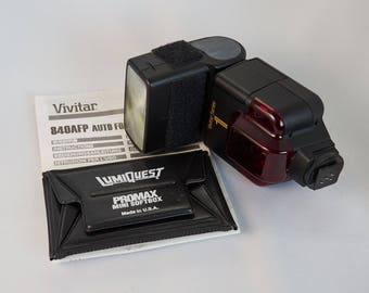 Vivitar 840AFP Bounce Flash with Owner's Guide
