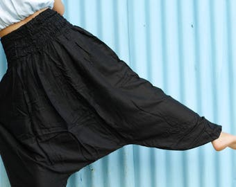 Fisherman pants Black harem pants Black clothing Thai pants Hippie clothes Yoga pants Trending clothes black color