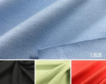 Cotton Jersey Knit Fabric With Spandex (Wholesale Price Available By The Bolt) USA Made Premium Quality - 3081 -  1 Yard
