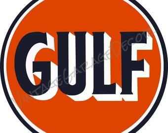 "Vintage Style "" Gulf "" Advertising Metal Sign"