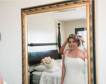 bridal hair wreath with veil Wedding party Flower Crown Veil Boho Braided Flower Crown Bachelorette Flower Crown Bridesmaids beach wedding