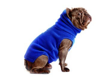 11. FROST BLUE Polartec 200 dog sweater