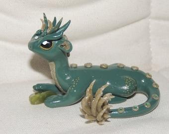 Green Dragon Polymer Clay figurine