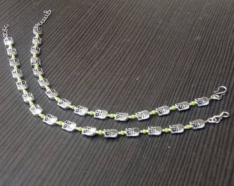 Anklet Jewelry | Barefoot Anklet | Indian Fusion jewelry | Elegant Leaf Design Silver Plated Anklet | Banjara Style Women's Jewelry | A182