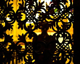Cathedral Wrought Iron Screen Silhouette