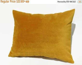 20% off Mustard Pillow, Mustard Velvet Pillow, Mustard Velvet Bed Pillow, Mustard Velvet Pillow Cover, Mustard Velvet Decorative Pillow