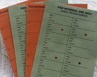 4 x Mixed Internal Use Envelopes