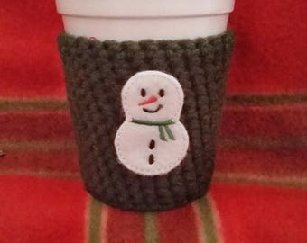 Reusable coffee sleeve, coffee cozy, to go cup sleeve, holiday.