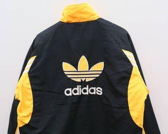 Vintage ADIDAS Sportswear Black Bomber Jacket Windbreaker