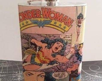 Wonder Woman 8oz Flask