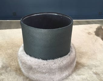 Candle mink and leather