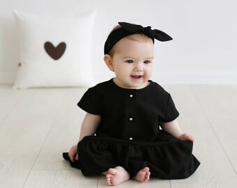 Little girl black dress
